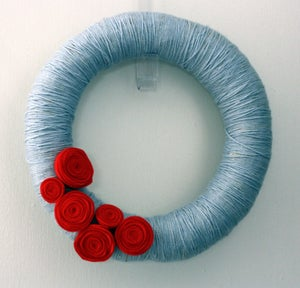 Image of Yarn Wreath