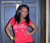 Image of Black Monalisa RED T-shirts