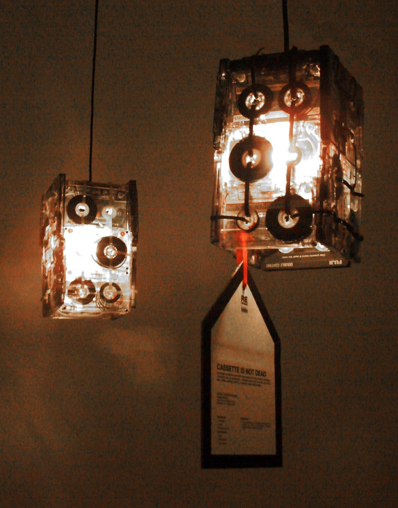 Small Cassette tapes lamp