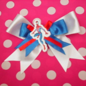 7ce7d9be3180 £4.99 - On Sale. Hi here we have a cute lil spiderman hair bow.