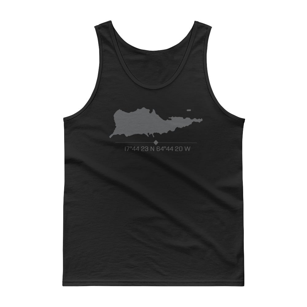 Image of Men's Island Tank with Coordinates