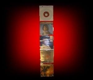 Image of Chapelet de présentation pour 5 disques 45 Tours