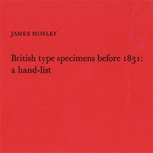Image of British type specimens before 1831: a hand list