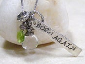 Image of born again sterling pendant