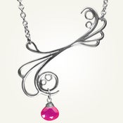 Image of Mayan Reef Necklace with Pink Chalcedony, Sterling Silver