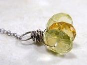 Image of Designer Cut Three Gem Necklace 3