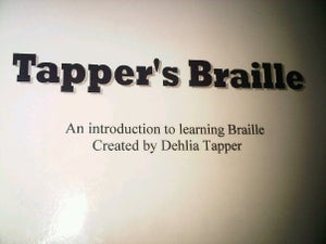 Image of Tappers Braille work book