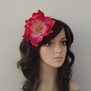 Image of Ready to Ship Today! Magenta Magnolia & Veil