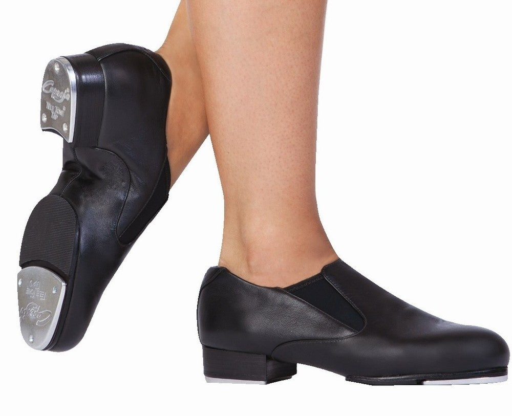 Image of Slip On Tap Shoes - Capezio - Black Leather