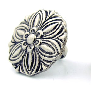 Image of Saguaro Flower Oversized Cocktail Ring