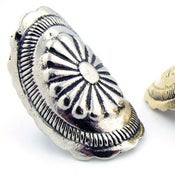 Image of The Gila Bend Oversized Bent Concho Knuckle Ring