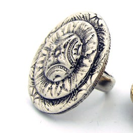 Image of Medallion Sun Cocktail Ring