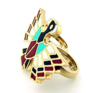 Image of Thunderbird Double Finger Cocktail Ring