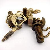 Image of UNION Parts & Recreation Toolbox Necklace- Clamp Charm on Ballchain Necklace