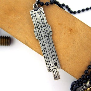 Image of UNION Parts & Recreation Toolbox Necklace- Caliper Charm on Ballchain Necklace