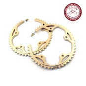 Image of UNION Parts & Recreation Bicycle Jewelry- Chainring Hoop Earrings