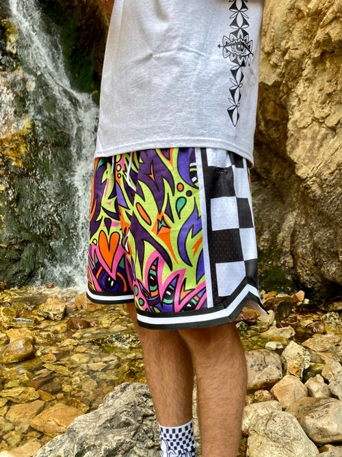 """Image of """"Am EY3DREAMing?"""" Full Mesh Shorts"""