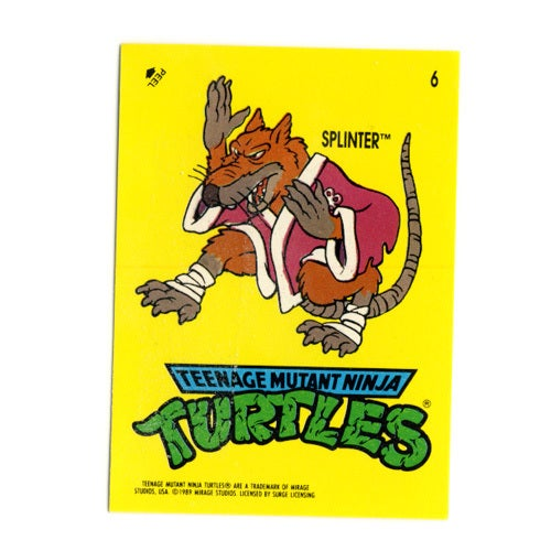 Image of TEENAGE MUTANT NINJA TURTLES CARDS 1989