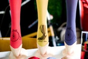 Image of Hand-dyed and Printed Full-length Pantyhose