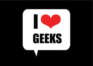 Image of I Love Geeks Postcard