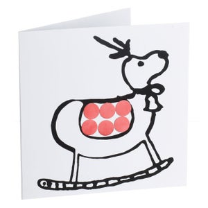 Image of Reindeer – Mirror card (Red)