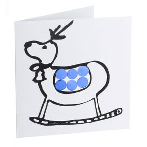 Image of Reindeer – Mirror card (Blue)