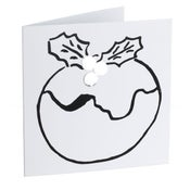 Image of Pudding – Mirror card (Silver)