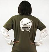 Image of Military Green BZFlag Logo Shirt