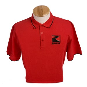 Image of Embroidered Cutter & Buck Clique Tipped Polo - Red