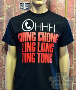 Image of OHHH CHING CHONG LING LONG TING TONG Mens T-Shirt ( Black )