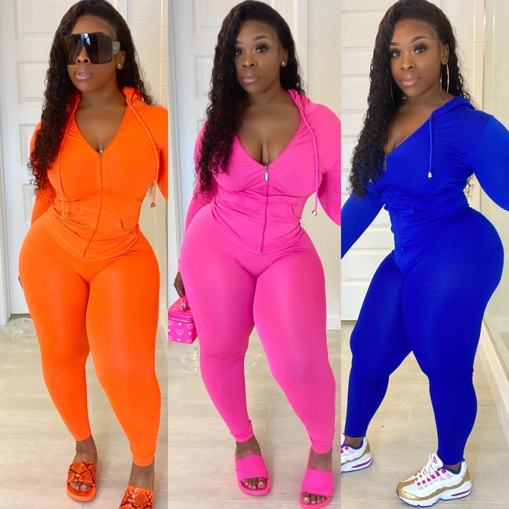 Image of ORANAGE TRACKSUIT TWO PIECE SET