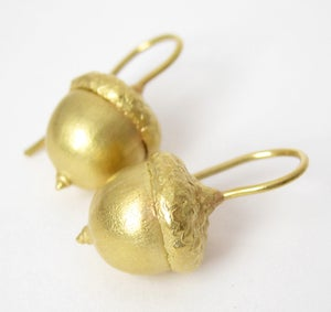 Image of Acorn Earrings 18K Gold