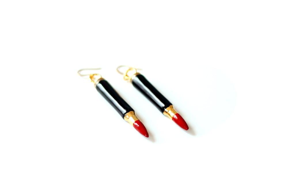 Image of 'KILLER LIPSTICK' earrings (mini version)