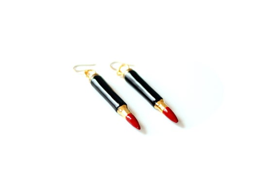Image of 'KILLER LIPSTICK' earrings (mini version)