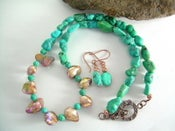 Image of Tuscany Field - Turquoise and Keshi Pearl Necklace