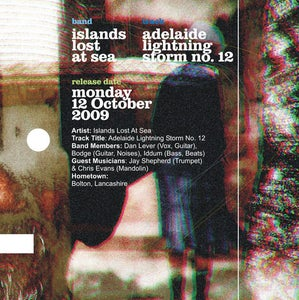 Image of Islands Lost At Sea - Adelaide Lightning Storm No. 12 Limited, Numbered Handmade CD Single