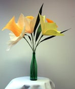 Image of Giant Crepe Paper Daffodil Bouquet