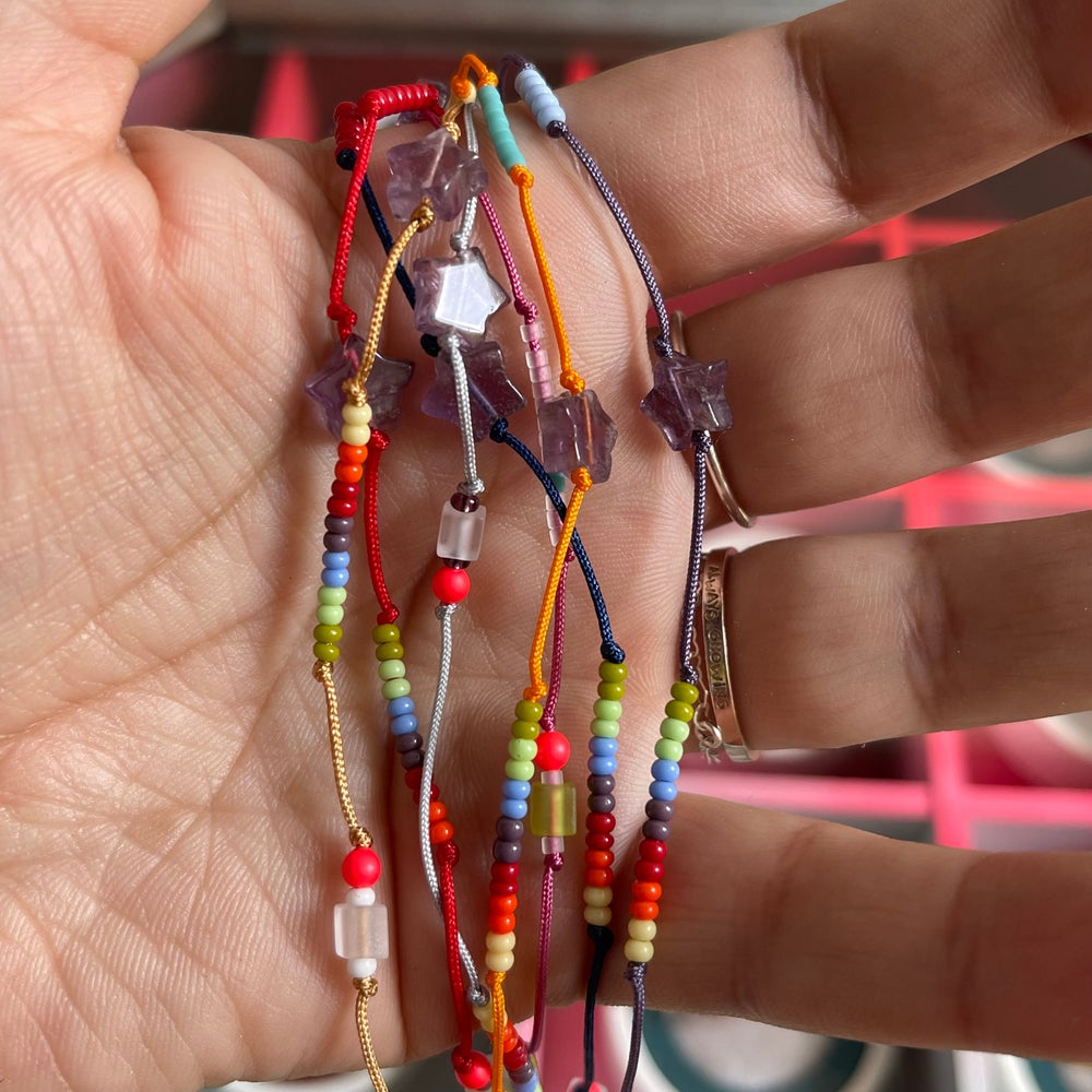 Image of Star and rainbow anklet