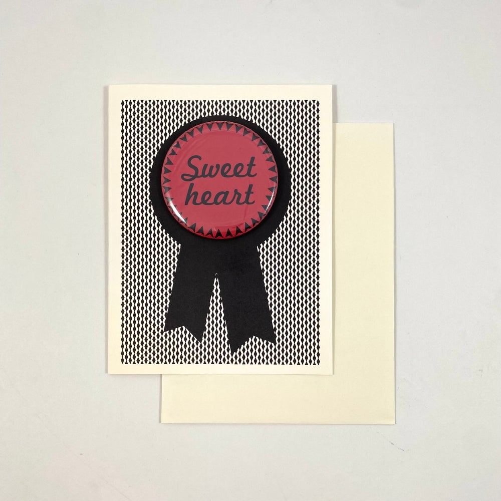 Image of Sweet Heart Button Card