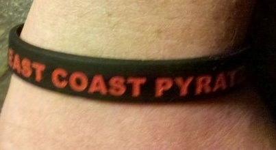 Image of East Coast Pyratz rubber bracelet