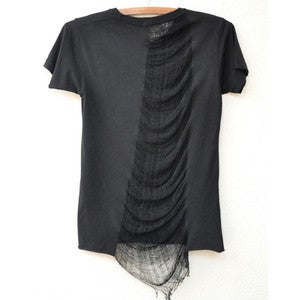 Image of Black Shredded tee