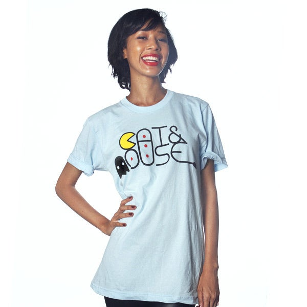 Image of Cat & Mouse Pacman Tee (Unisex)