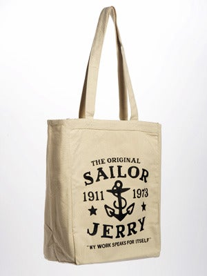 Image of Sailor Jerry Tote Bag - My work speaks for itself - Natural