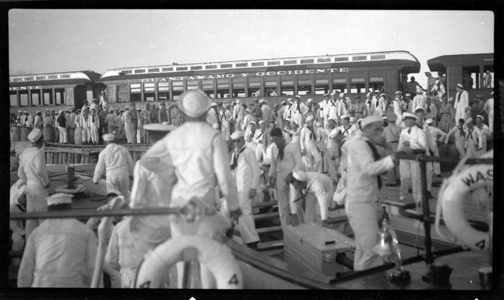 Image of Sailors Headed to Guantanamo