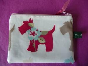Image of Scottie dog oilcloth coin purse SALE