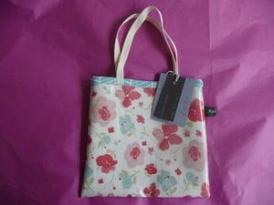 Image of Pretty pink floral oilcloth mini tote SALE