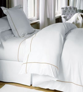 Image of Yves Delorme Athena Bed Linens- Platine Euro Shams