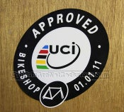 "Image of UCI Approved ""Bikeshop"" Sticker"
