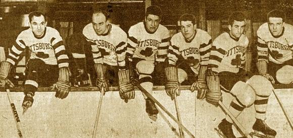 Image of Pittsburgh Shamrocks custom 1935 hockey tee by Backpage Press
