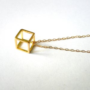 Image of Cube Pendant Necklace